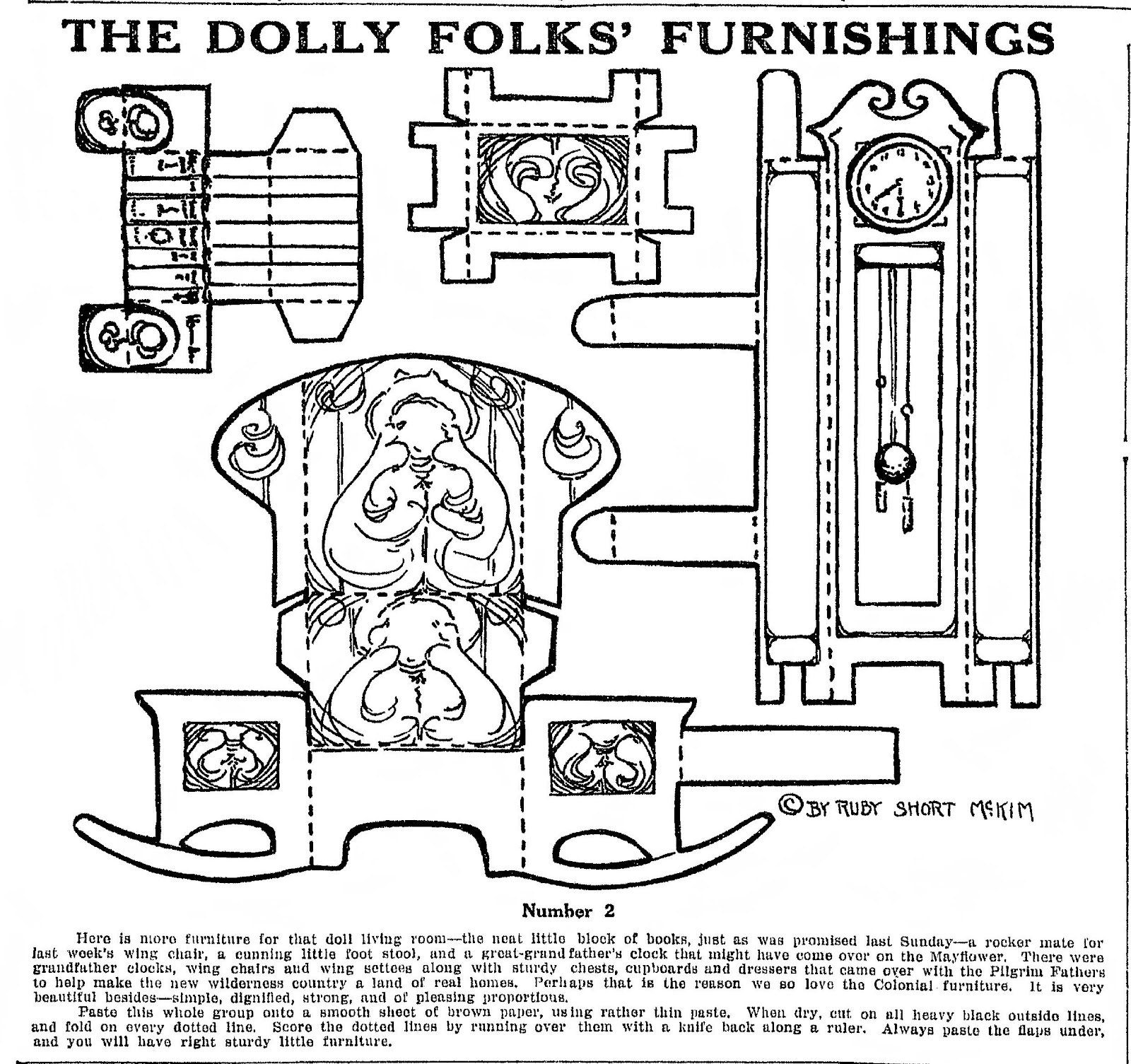Mostly Paper Dolls Dolly Folks Furnishings