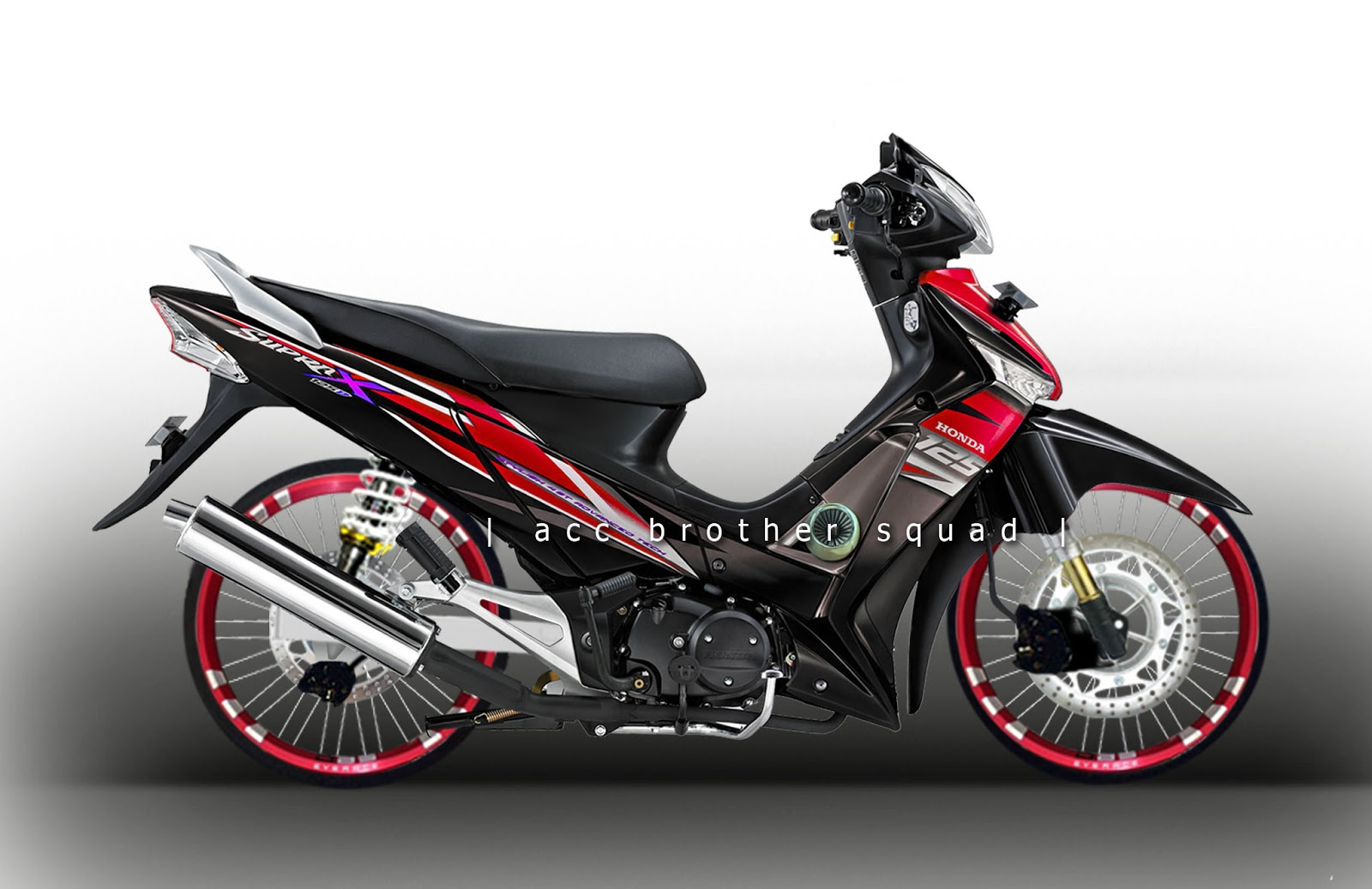 Gambar Modifikasi Supra X 125 Sederhana Terbaru Model Road Race