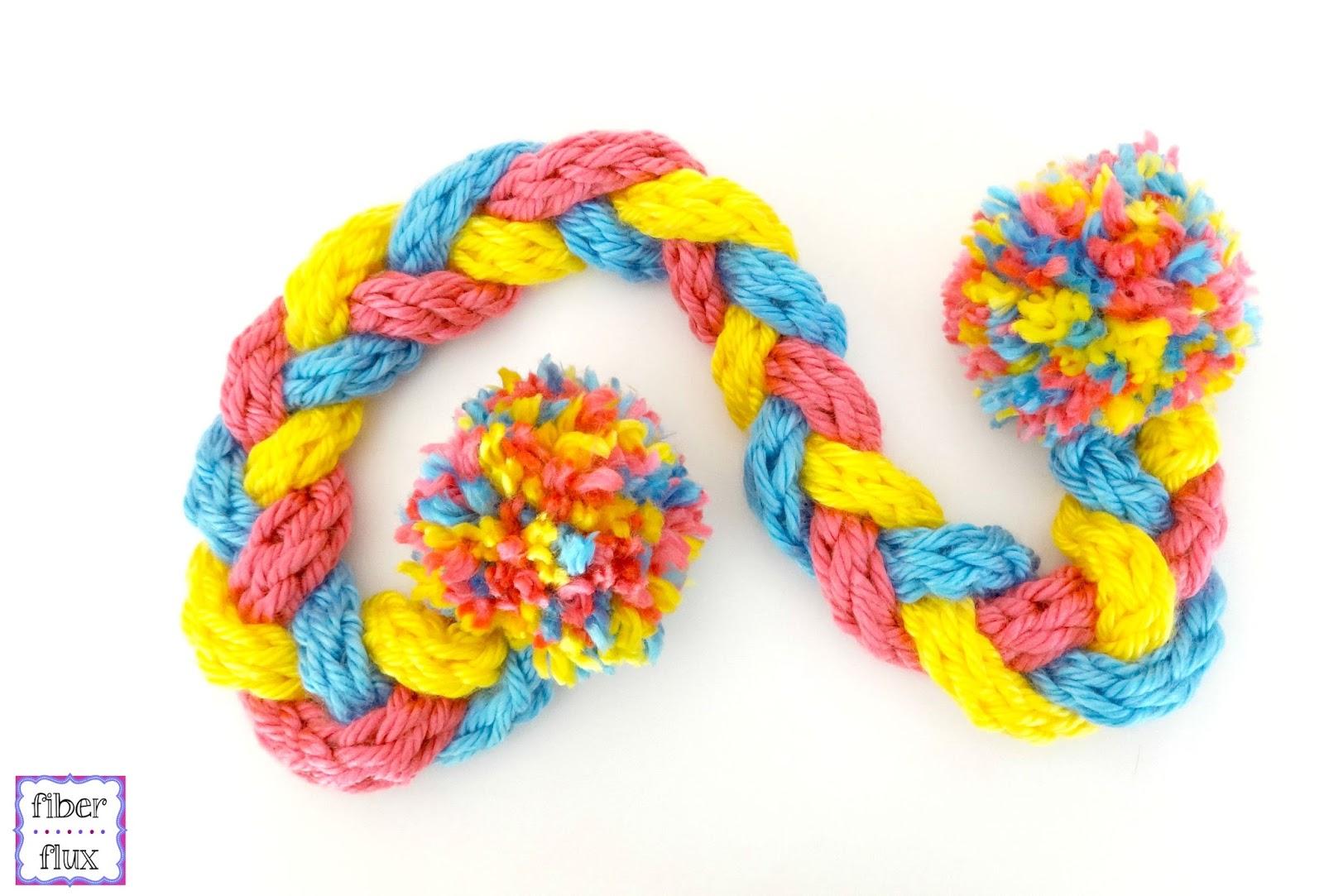 Fiber Flux: Finger Knit Braid Scarf for Kids!