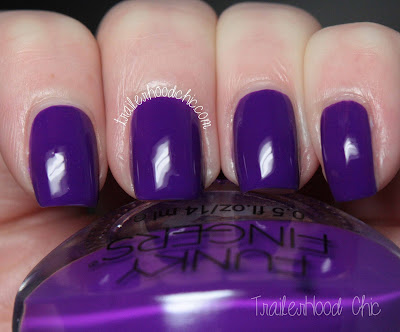 funky fingers riot swatches review purple