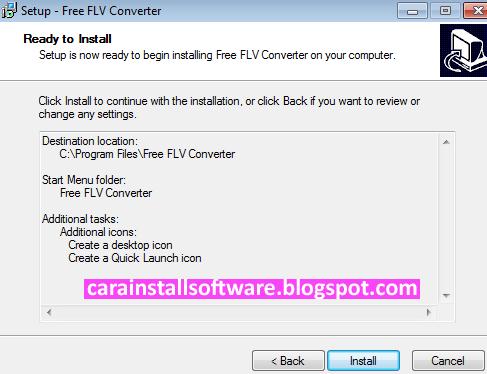 Cara Instal Free FLV Converter