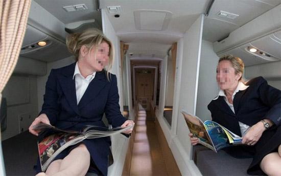 Compartimento secreto exclusivo tripulação aviões 5