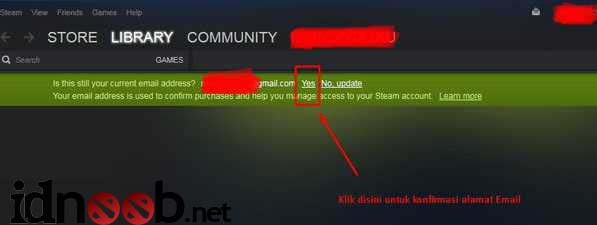 Cara Verifikasi atau Konfirmasi Email Dota 2