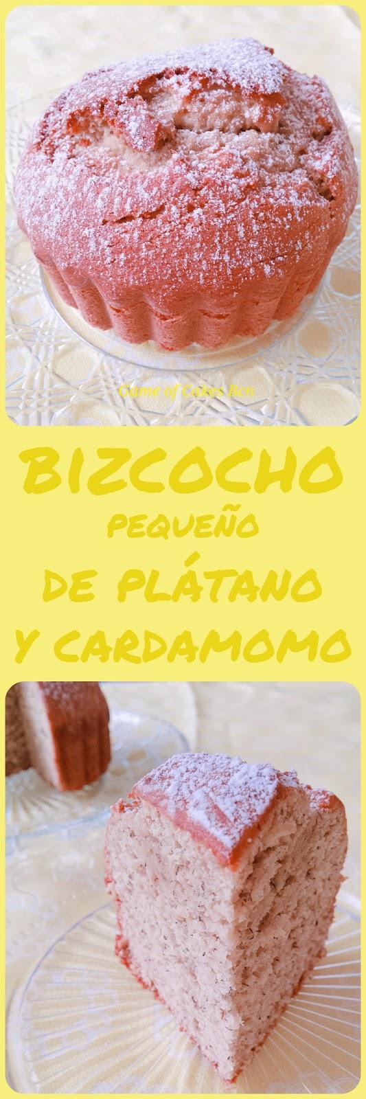 Bizcocho pequeño de plátano y cardamomo Game of Cakes Bcn