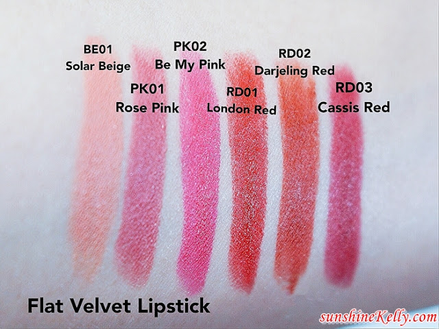 The face shop, flat Velvet lipstick, flat Glossy Lipstick, the face shop malaysia, beauty review, lipstick review, which one better
