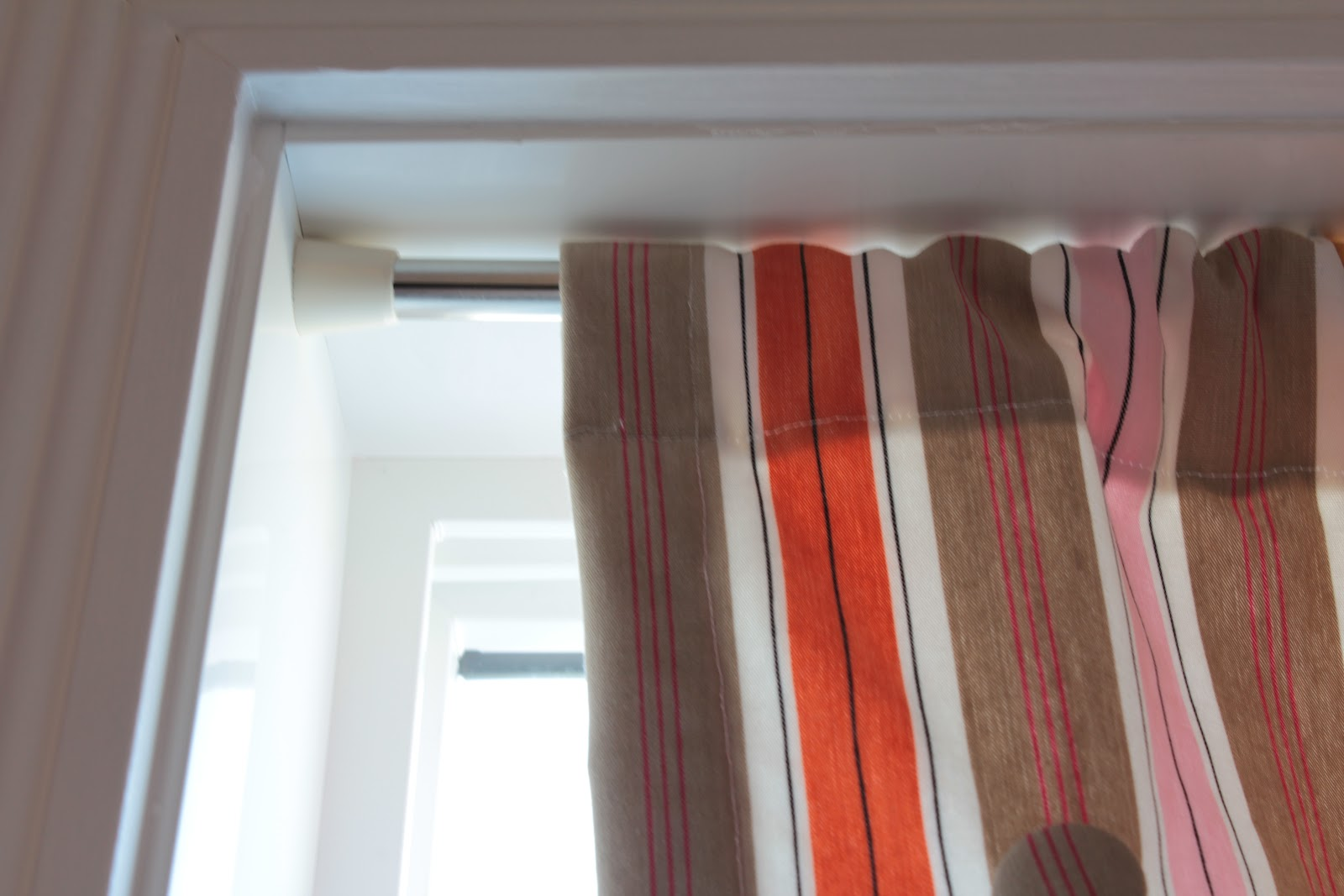 Curtains hung inside window frame curtain menzilperde net for Roman shades that hang from a curtain rod