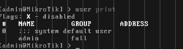 user mikrotik