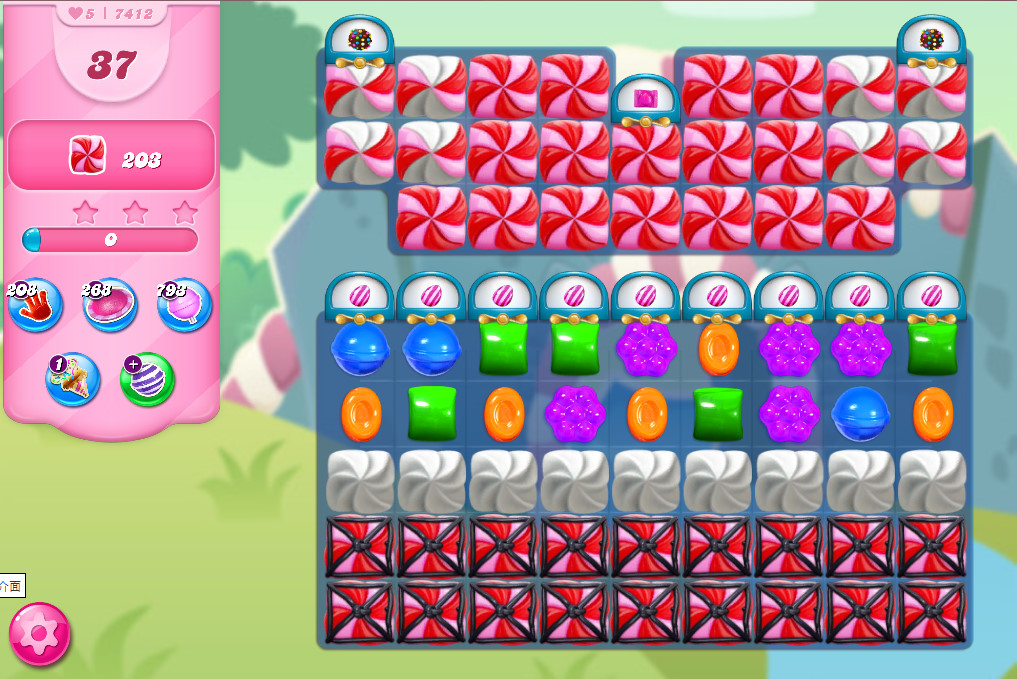 Candy Crush Saga level 7412