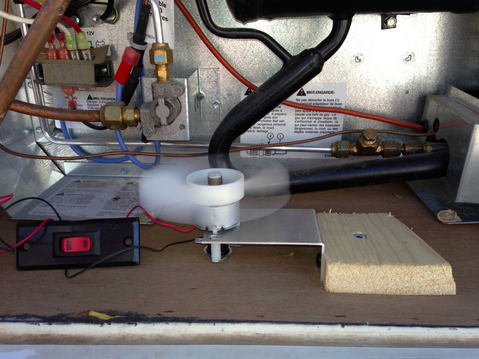 Giving Your Rv Absorption Refrigerator A Boost Truck Camper Adventure Motorhome Electric Wiring