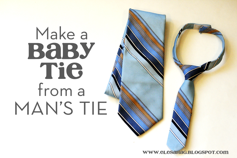 Mind Fingers: Make a Baby Tie from a Man's Tie