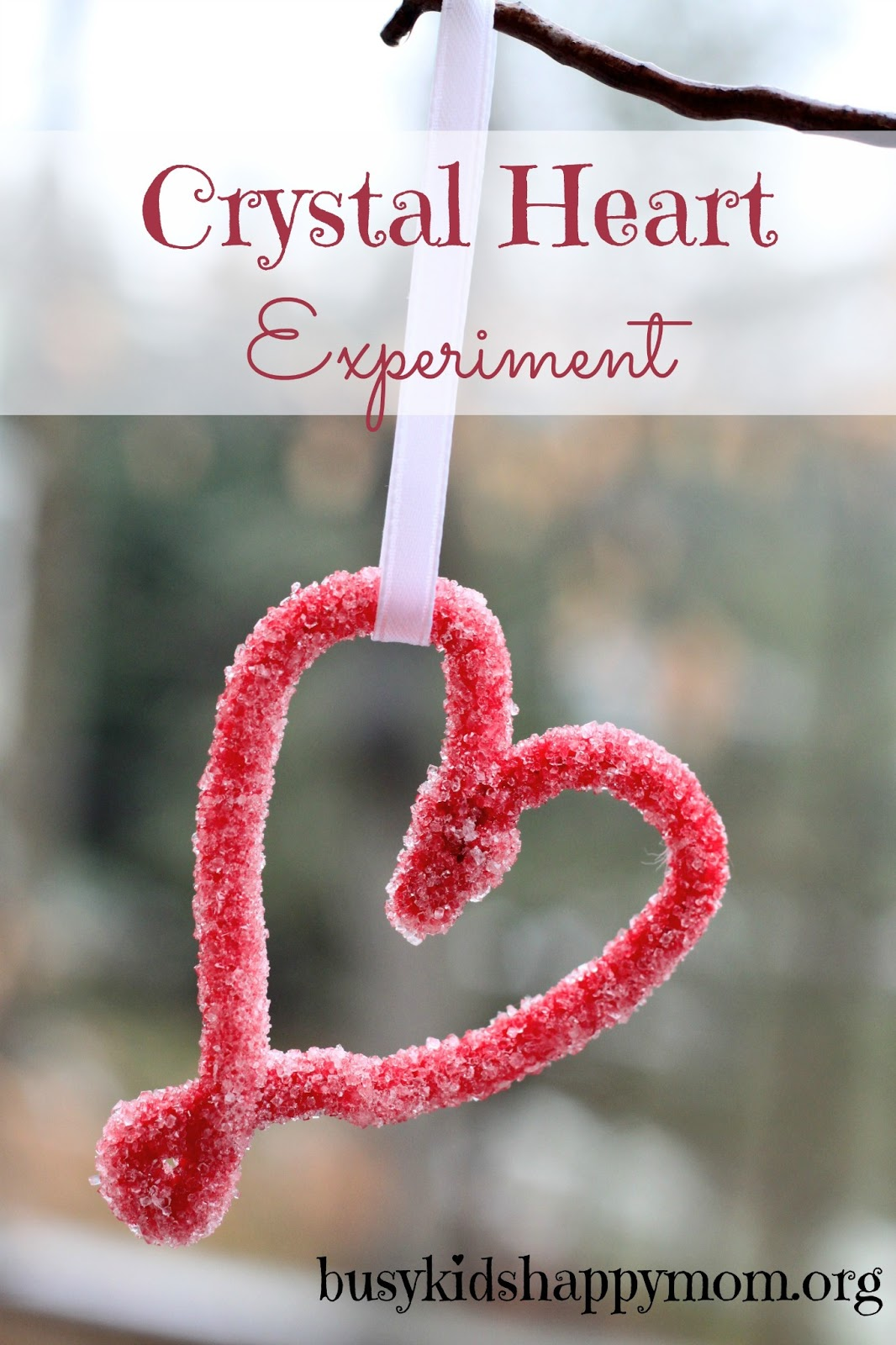 Crystal Heart Science Experiment Borax Candy Free Valentines