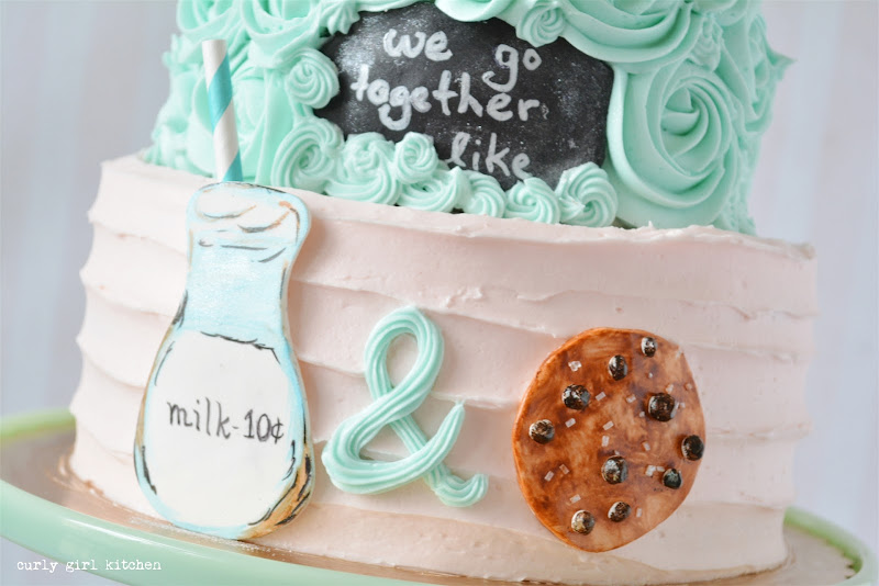 We Go Together Like Milk and Cookies Cake for Valentine's Day