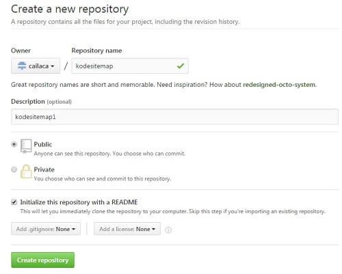 Create a new repository - GitHub