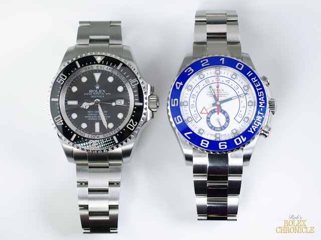 Photo of Rolex Deepsea and Yacht-Master II Models Side by Side
