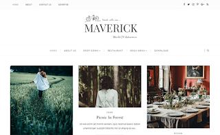 Maverick Grid Blogger Template