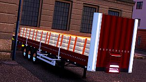Red Cement trailer