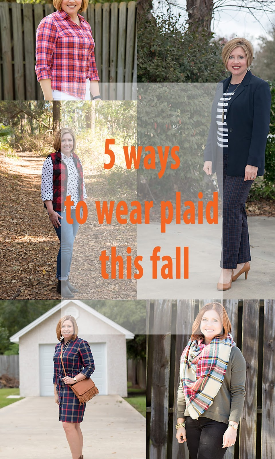 5 ways to wear plaid this fall, fall outfits, plaid shirt outfit