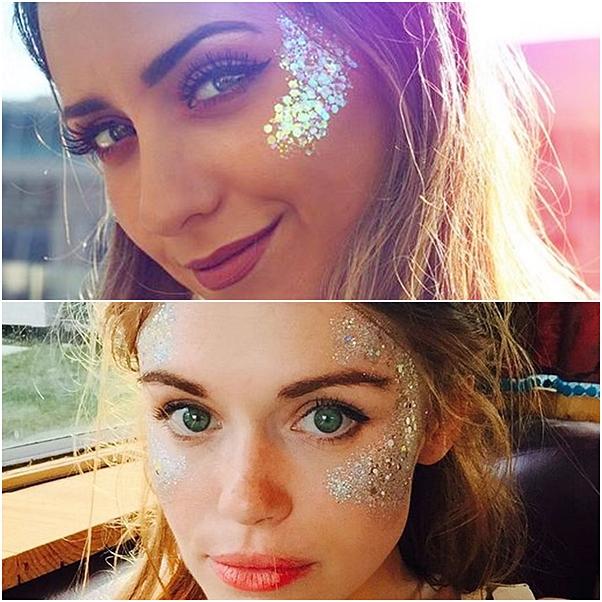 maquiagem mascara de glitter carnaval