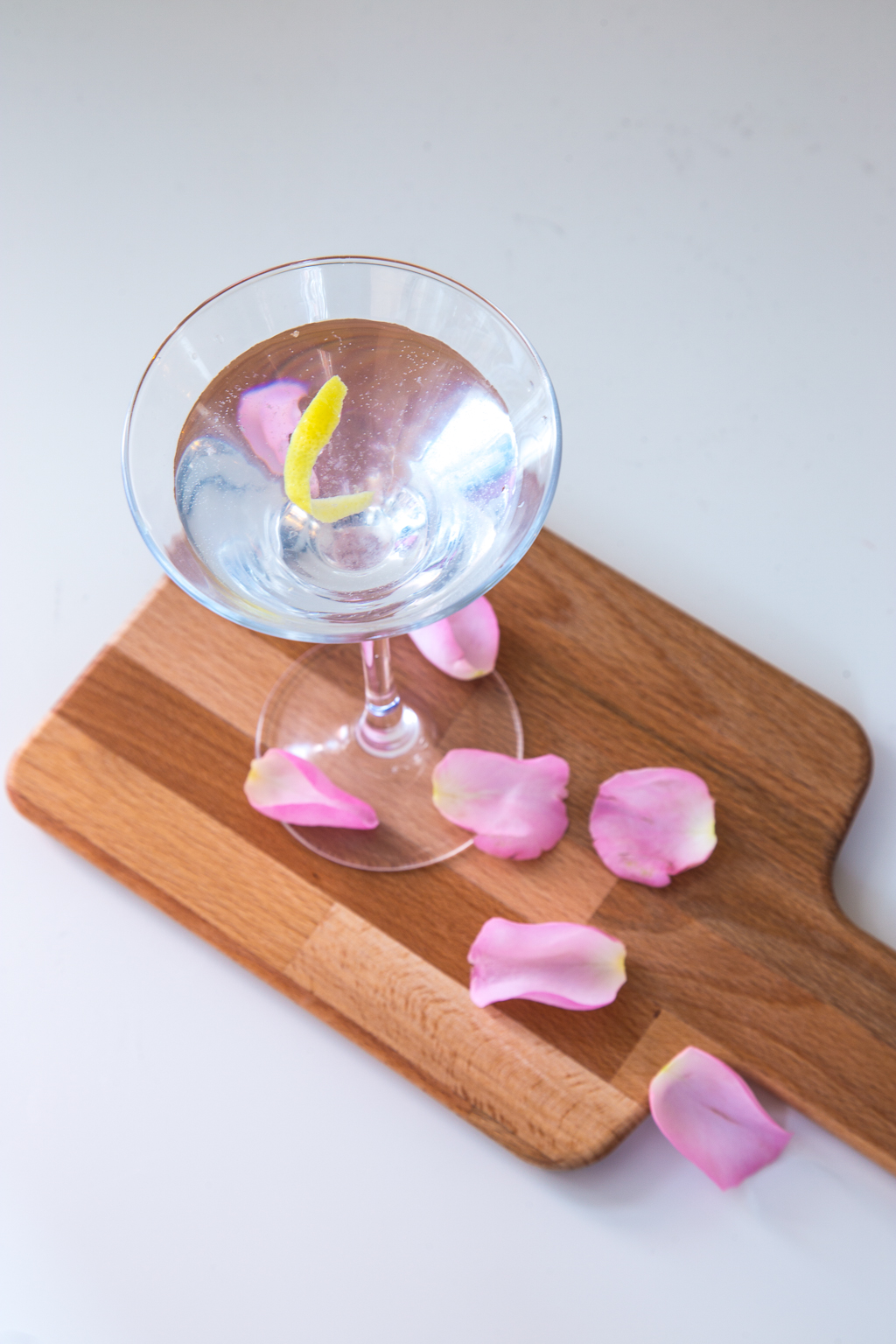 Rose gin martini