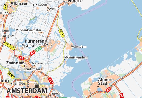 Mapa de Volendam