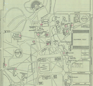 Detail of 1911 map of UC Berkeley from the Earth Sciences & Map Library
