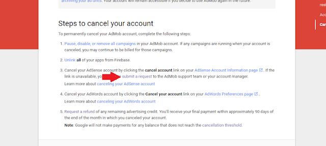 Cara Mudah Cancel Akun Admob - Riswan.net