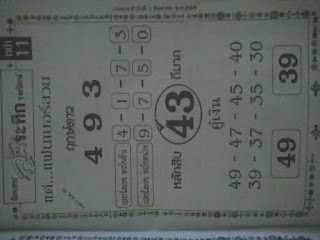 Magazine tip papers 1-8-2017 Thai lottery