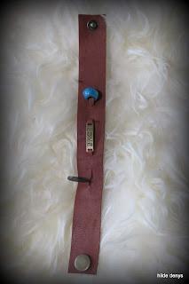 Lovelea's boho/ethnic men's  Love bracelet in cognac leathe