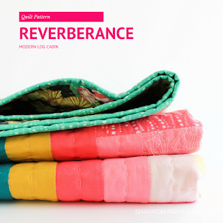 Reverberance Quilt | Modern Log Cabin Quilt Pattern | Shannon Fraser Designs