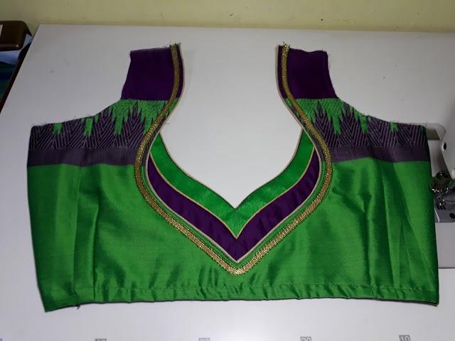 पान गला ब्लाउज cutting and stitching tips in Hindi