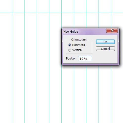 Create horizontal guides