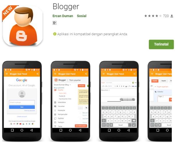 Aplikasi Blogger Untuk Ngeblog
