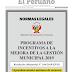 #PERU APRUEBAN MONTOS MÁXIMOS PARA MUNICIPALIDADES QUE CUMPLAN CON LA METAS DEL PROGRAMA DE INCENTIVOS
