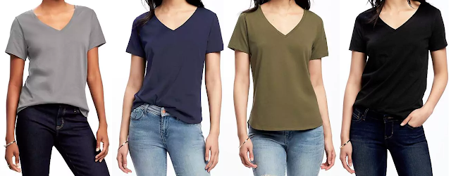 Old Navy Relaxed V-Neck Tee $7 (reg $13)