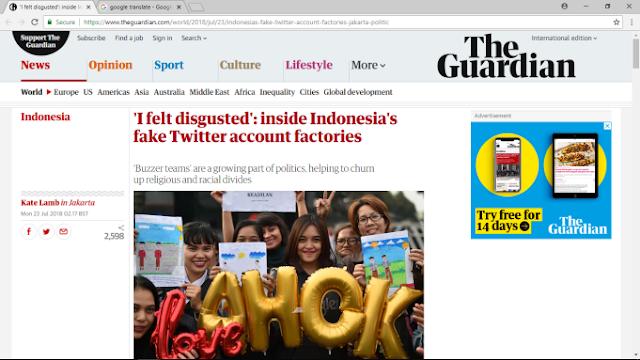 Media Inggris Ungkap Kerja Tim Buzer Ahok Obok-obok Umat Islam Saat Pilgub 2017