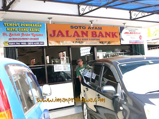 Tampak Depan Soto Jalan Bank Purwokerto