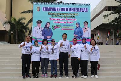 "Senam Sehat Pemprov Gaungkan ""Perempuan Berdaya, Lampung Jaya"""