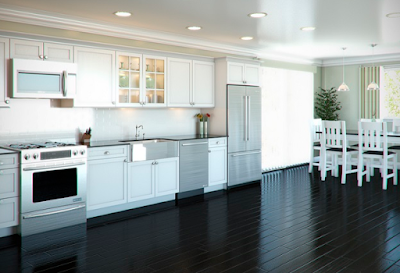 layout interior kitchen at home