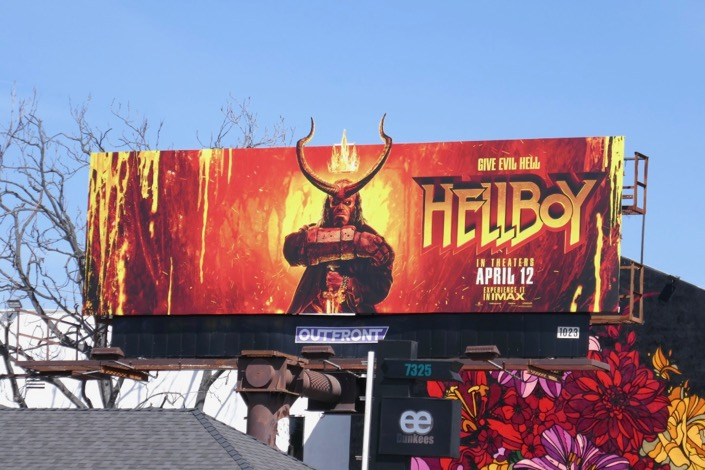 Hellboy extension cut-out billboard