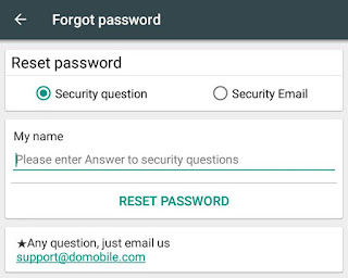 Rest password