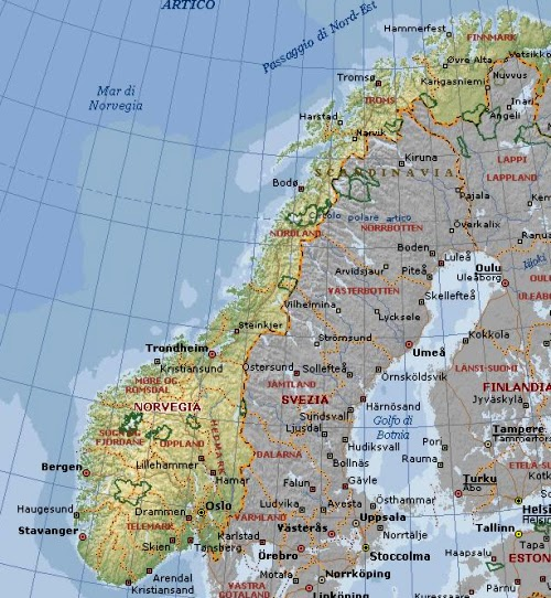 Cartina Norvegia Politica.Professione Donna La Norvegia