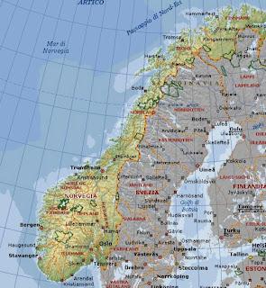 Cartina Fisico Politica Norvegia.Professione Donna La Norvegia