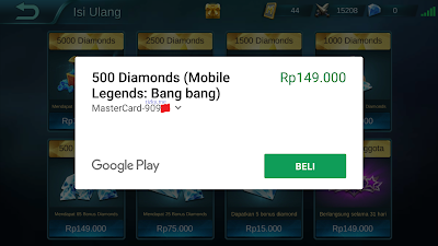 cara membeli diamonds mobile legends