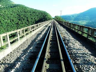 Trilhos sobre o Viaduto 13, Vespasiano Corrêa, RS