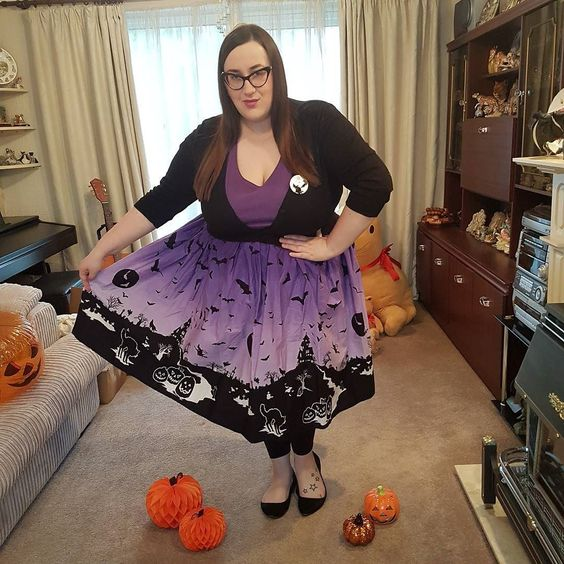 Hell Bunny Haunt  plus size Skirt