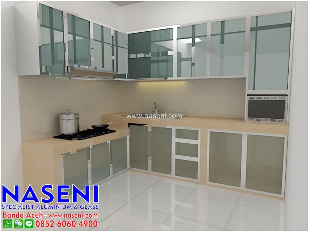 Naseni Aluminium Dan Kaca Kitchen Set