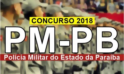 Edital Concurso PM PB 2018