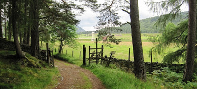 Approaching Polhollick Bridge, Deeside walk