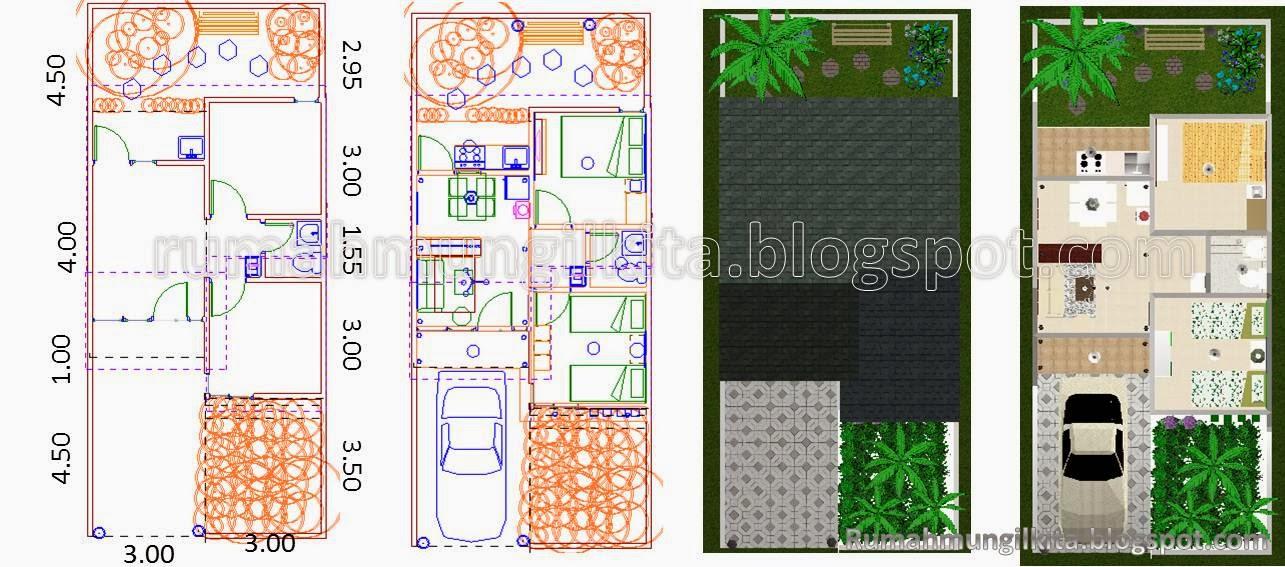 Desain Rumah Minimalis Luas Tanah 84m Griya Anda