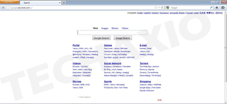 CometBird Browser Screenshot